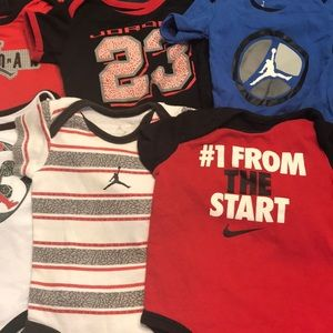 2cc1fbf7970408 Jordan One Pieces - Lot of 8 Jordan Nike onesies size 0-3 months